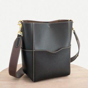 😍 The Jordan Leather Bucket Bag - Black
